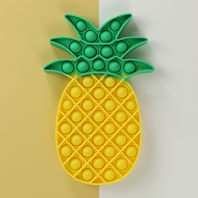 Yellow Pineapple Food Simple Fidget Toy Push Bubble Stress Sensory Toy Relief Anti-stress Hand Game Toys 1