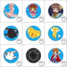1pcs anime Cardcaptor Sakura Cosplay Badge Cartoon Brooch Pins for Backpacks bags Badges Button Clothes Accessories