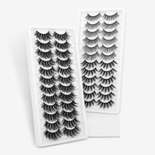 ISEEN pestañas postizas 3D de visón, 12 pares, naturales, largas/gruesas, hechas a mano, extensiones de maquillaje
