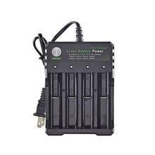 18650 carregador li ion bateria 4.2 v quatro slot linha carga completa da fábrica de desligamento fashlight baterias carregador