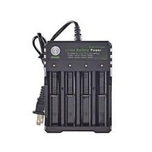 Cargador de batería de ion de litio de 18650 V, cuatro ranuras de carga de línea completa de fábrica de apagado, Cargador de baterías de Fashlight