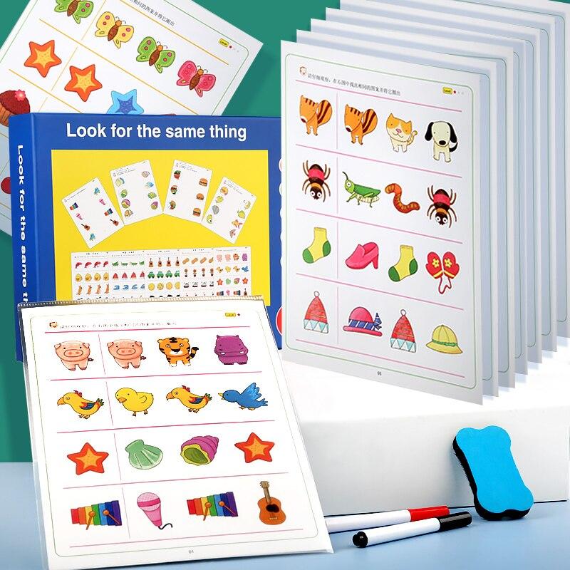 Найдите в одно и то же соединение для того чтобы соответствовать рисунок головоломки Монтессори раннее детства развивающая игрушка, подаро...