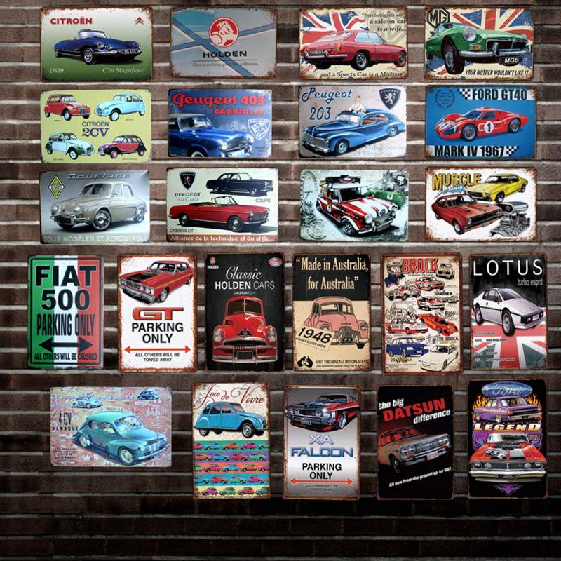 [DecorMan] australie France voiture métal affiche personnalisé Plaque murale peintures Bar PUB décor LT-1802