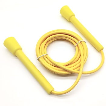 """rush athletics speed rope <p class=""""p1"""">Same rush athletics speed rope with no logo.</p> <p class=""""p1"""">Same handle and longer rope.</p> <p class=""""p1"""">Length 3.4m in total and 3.2m between the handle.</p> <p class=""""p1"""">Net weight 115g PVC material.</p> - FitnessKim"""