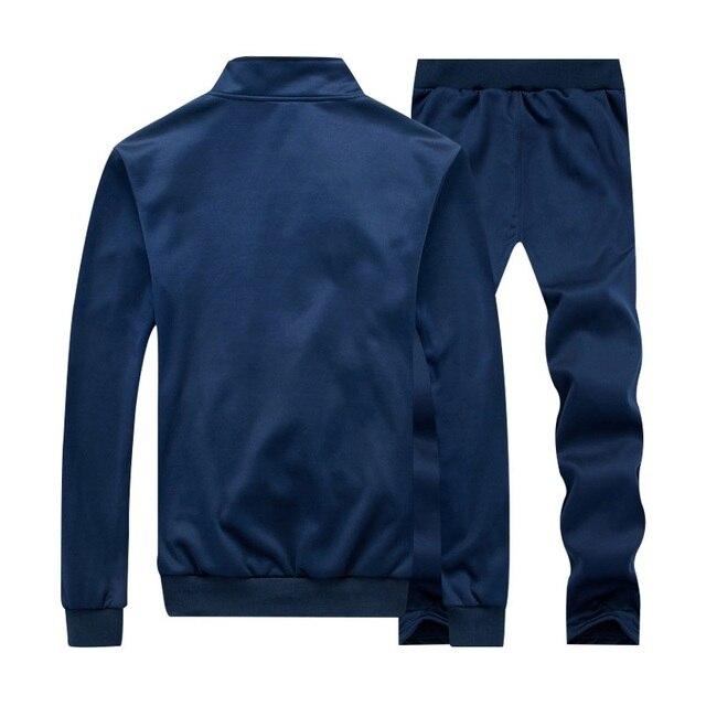 2021 New Spring Set Men Quality Sweatshirt + Pants Male Tracksuit Sporting Sweat Suits Mens Sportswear Sets Autumn Joggers Suits 4