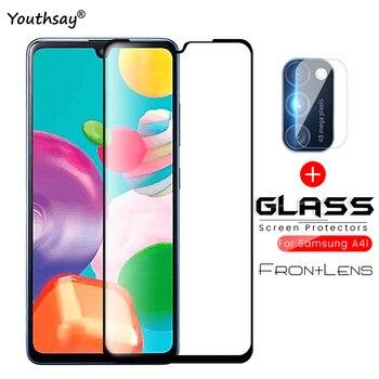 Перейти на Алиэкспресс и купить Для Samsung Galaxy A41 Защитное стекло для объектива камеры с полным клеем закаленное стекло для Samsung A41 для Samsung A41 A31 A11 A51