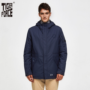 Image 1 - Tiger Force 2020 new arrival men spring autumn jacket high quality Fashion Bomber Jacket Windproof Man Coat Outerwear 50235