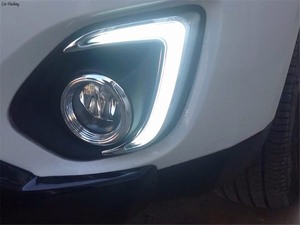 Image 5 - 1Set LED DRL COB Daytime Running Lights Daylight Waterproof Fog Head Lamp with Signal For Mitsubishi ASX 2013 2014 2015
