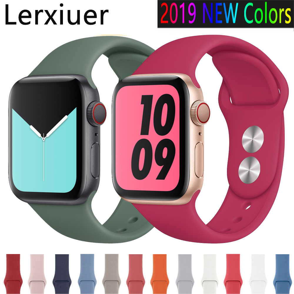 Sport Strap For Apple Watch band 44mm 40mm correa iwatch band 42mm 38mm Silicone Bracelet apple watch 5 4 3 2 1 Accessories