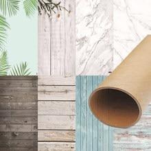 Foto studio 58x86cm 2 lados 80 cores pvc fotografia backdrops impressão de madeira parede de mármore à prova dwaterproof água fundo para câmera foto
