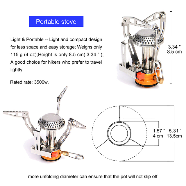 Widesea Camping Ultra-light Cookware Pots Set Gas Burner Stove Cooktop Outdoor Travel Tableware Spoon Fork Knife Picnic kitchen 5