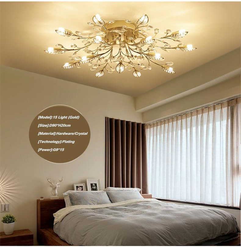 Hce885ce465654ced849d2bb51ca454a3D TRAZOS New item fancy ceiling light LED Crystal ceiling lamp modern lamps for living room lights,AC110-240V DIY Crystal lighting