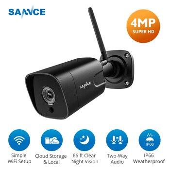 SANNCE 4MP IP Camera Wifi Outdoor FHD IP Cam Wireless IP66 Weatherproof Night Vision Camera Video Surveillance Metal Camera