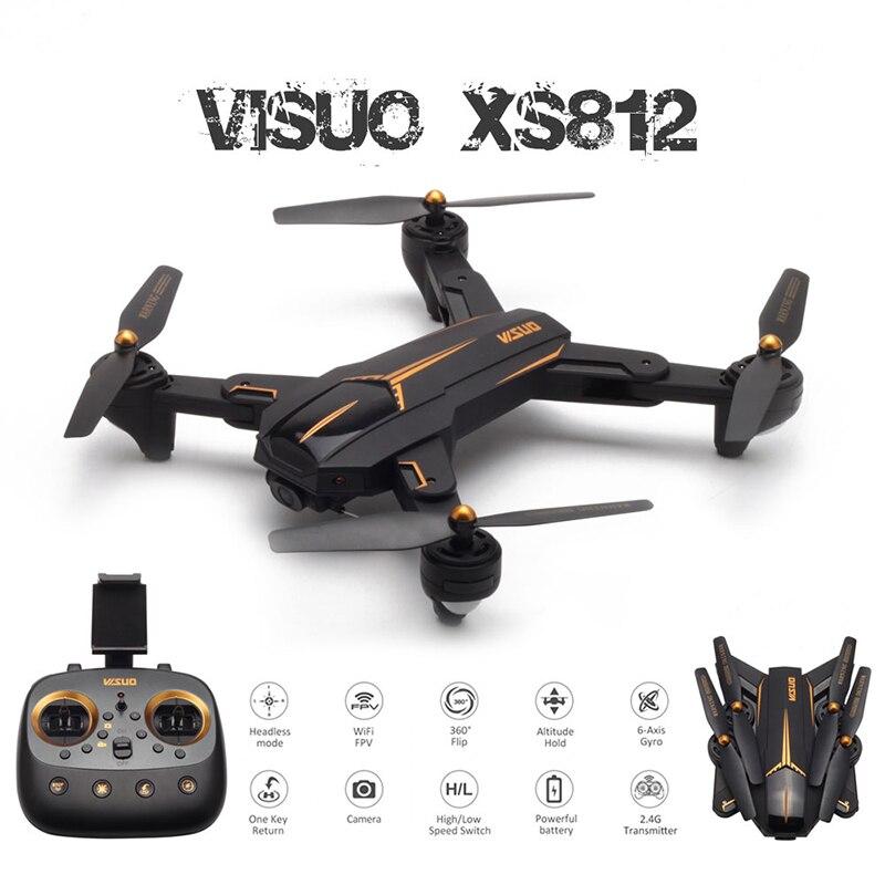 Visuo xs812 gps zangão com 4 k hd câmera 5g wifi fpv altitude hold um retorno chave rc zangão quadcopter helicóptero vs e520s sg906