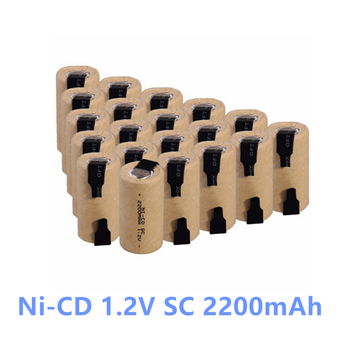 1-10 szt. Wkrętarko-wiertarka elektryczna SC baterie 1.2V 2200mah Sub C ni-cd akumulator Battey z zakładką elektronarzędzia NiCd SUBC Cells