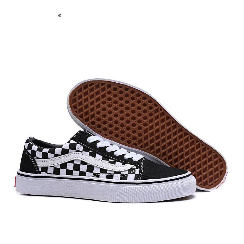 New Arrivals Authentic VANS Old Skool Men's/Women's Checkerboard Series Running Shoes,Sneakers Size Eur 35-44