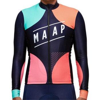 Maap 팀 자전거 사이클링 의류 겨울 야외 스노우 스포츠 셔츠 따뜻한 자전거 긴 소매 양털 저지 바지 젤 패드 정의