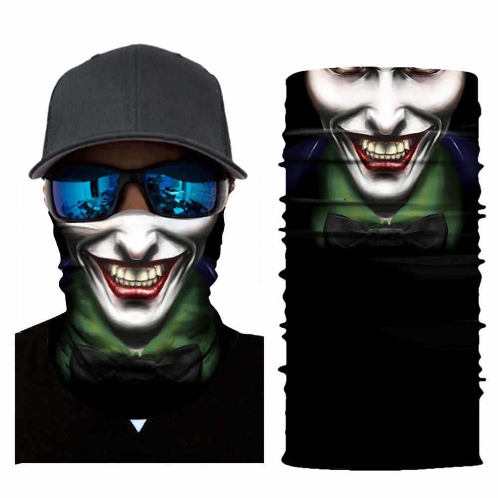 Viso Maschera 3D di scheletro del cranio senza soluzione di continuità magia di pesca maschera Da Sci in bicicletta Bandane all'aperto Bandane fascia Del Tubo della sciarpa di uomini donne sciarpe F1