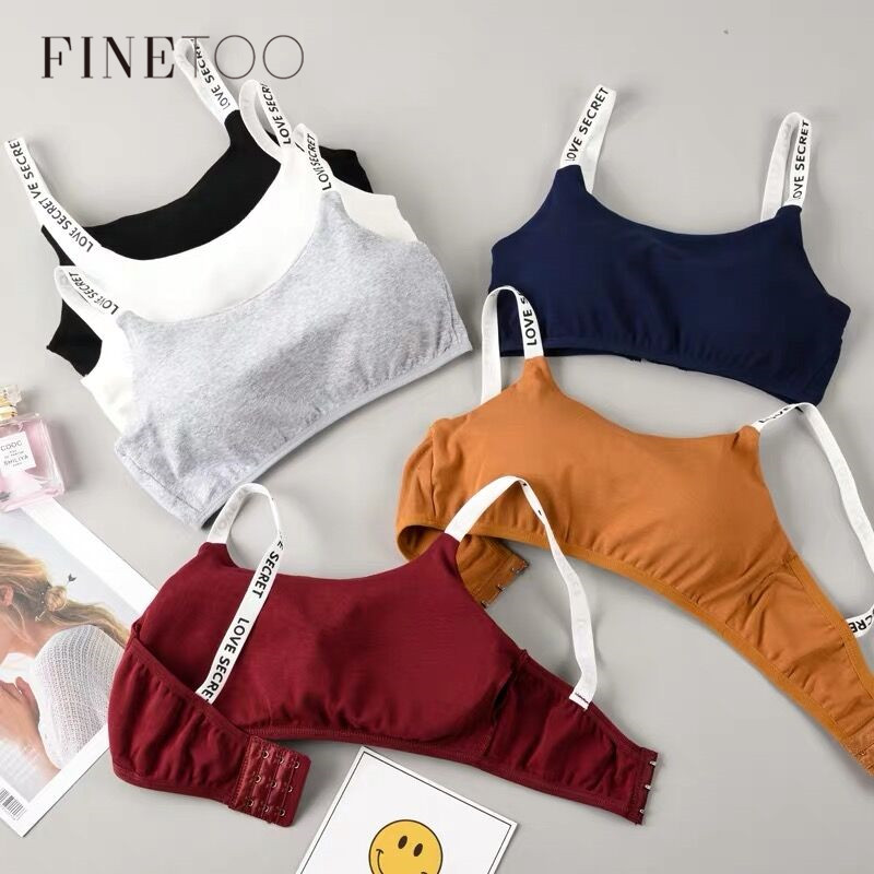 Sexy Seamless Bralette Removable Padded Bra Soft Casual Letter Underwear Fitness Breathable Wireless Bra Women Bras 6 Colors New