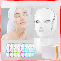 7 color Professional Photon LED Mask Househeld Photorejuvenation Machine Face Skin Care Light Therapy Mask For Anti aging