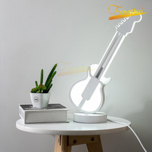 Modern  Minimalist LED Tricolor Dimming Table Lamp Nordic Guitar Decoration Touch Switch Table Lights Bedroom Living Room Lamps nordic luxury led table lamp lighting modern k9 material crystal minimalist table lights study bedroom dining room table lamps