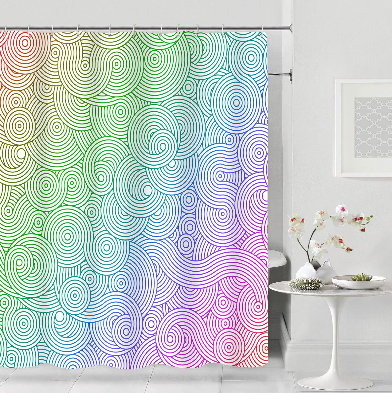Shower Curtain Hooks Watercolor Modern