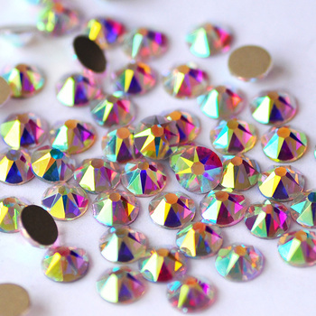 YANRUO 2088NoHF 8 Big 8 Small Non Hotfix DIY Strass Crystal Rhinestones Stick On Nail Art Decorations DIY Needlework Clothes 2
