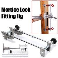 Mortice conjunto de bloqueio gabarito mortiser serralheiro madeira porta montagem slot broca carboneto com chave manutenção ferramentas manuais conjunto|Suprimentos para chaveiro| |  -