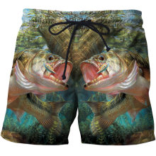 Adisputent Fashion Summer Men Beach Shorts 3D Print Fish Loose Male Bermuda Boardshorts Trousers 2020 New Hot Style Male Shorts(China)