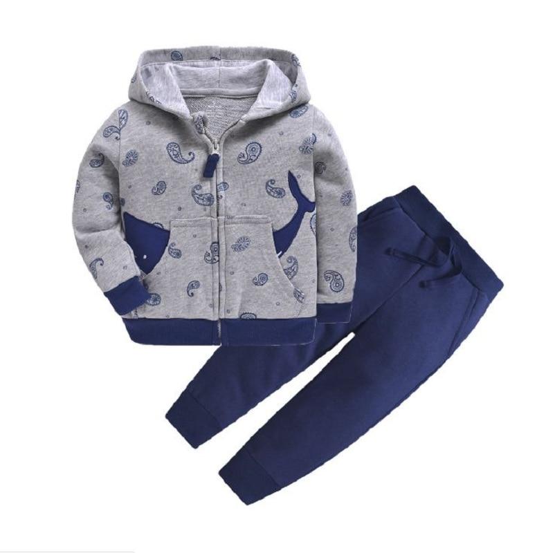 Одежда для маленьких девочек пальто с капюшоном с длинными рукавами и вышитым единорогом+ штаны, г. Весенняя одежда для маленьких мальчиков комплект для малышей, одежда для малышей - Цвет: 15