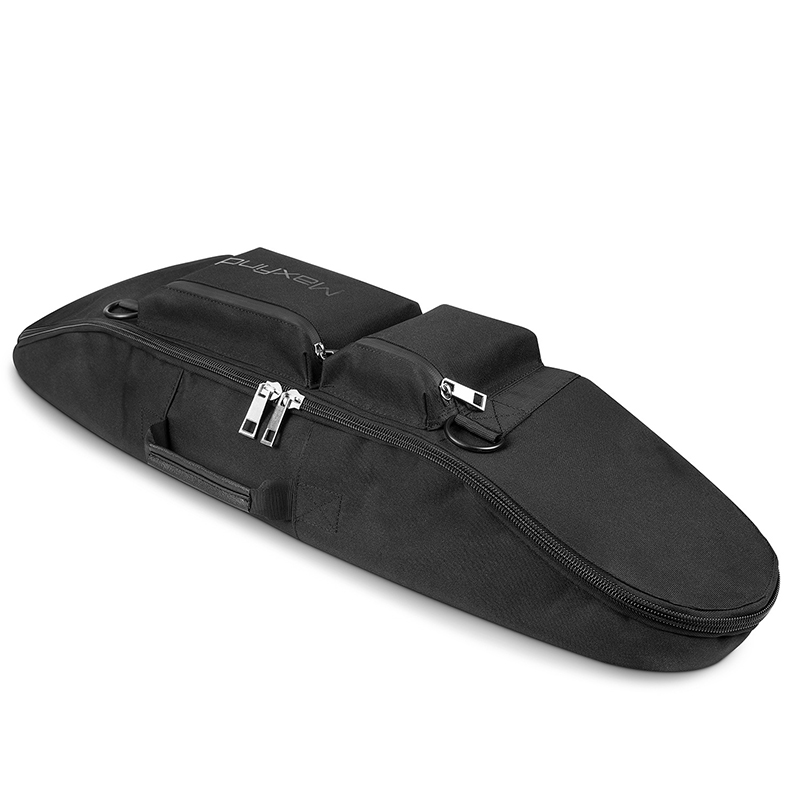 Black Waterproof Canvas Skateboard Bag Longboard Case Backpack Skating Pouch