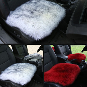 Image 3 - 100% Natural Fur Australian Sheepskin Car Seat Covers, Universal Wool Car Seat Cushion,Winter Warm Car Seat Cover
