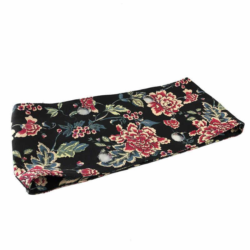 Bordure de tissu florale en coton tissu thermique en peluche pour Mini O sac classique Obag sacs à main EVA femmes sac à main accessoires