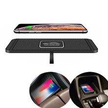 10W 자동차 제나라 무선 충전기 패드 빠른 충전 도킹 스테이션 비 슬립 매트 대시 보드 홀더 스탠드 아이폰 11 프로 삼성 화웨이