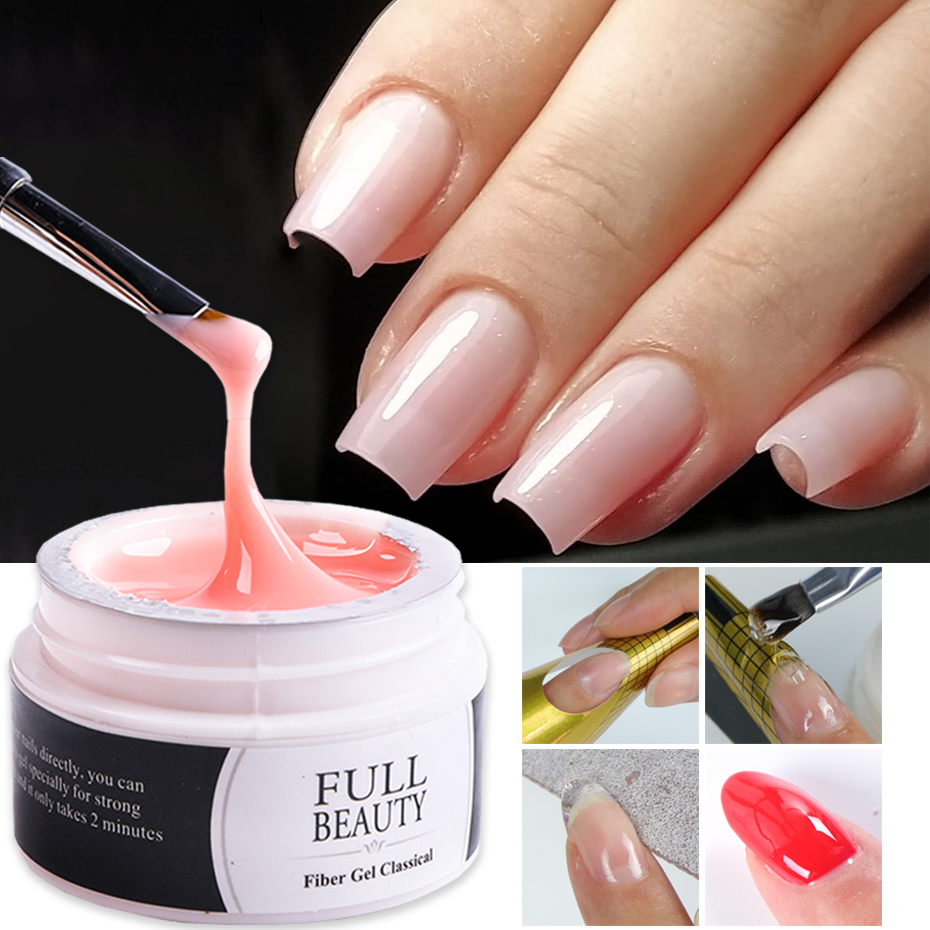1 Box Nail Extension Gel Pink White Clear Poly UV Builder Gel For Nails Finger Extensions Form Tips French Nail Art Tools LY1623