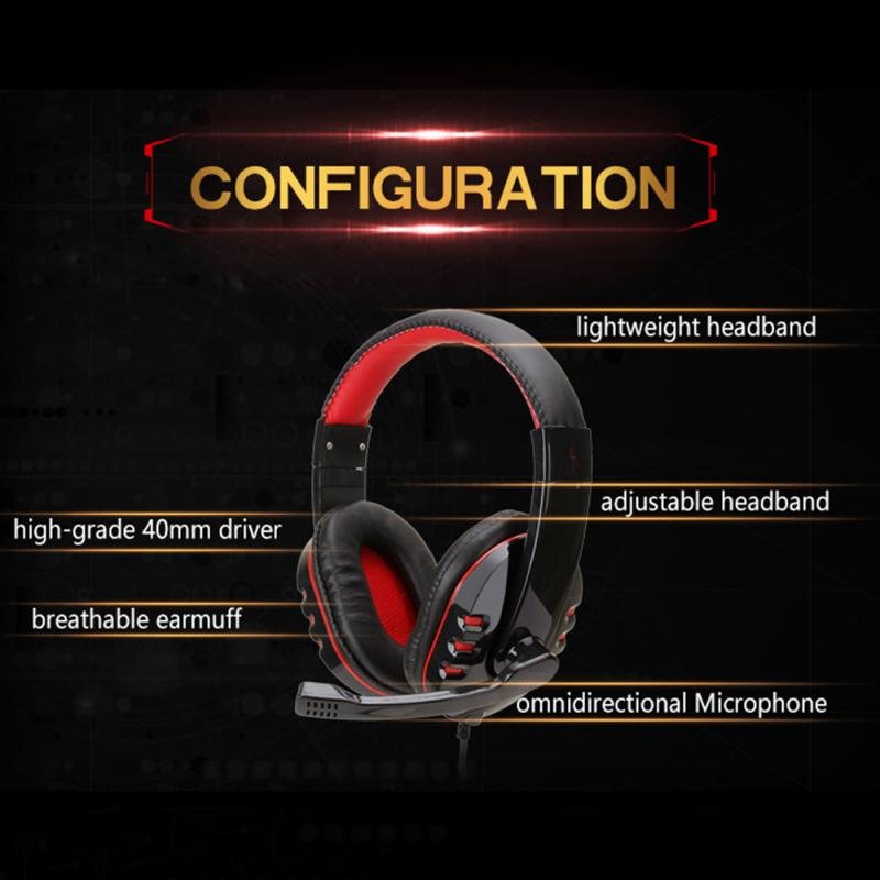 SY733MV PC PS4 Gaming Headset With HD Microphone Computer Gamer Headphones Bass Stereo Surround Earphones Computer Accessories