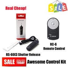 Selfie Obturador + RC-6 RS-60E3 Infravermelho Controle Remoto Sem Fio para Canon EOS 700D 750D 760D 650D 600D 550D 500D 450D 400D