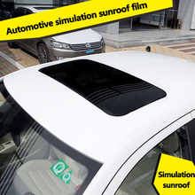 Car Simulation Sunroof Stickers Roof Decoration film Creative Conversion Personality Black