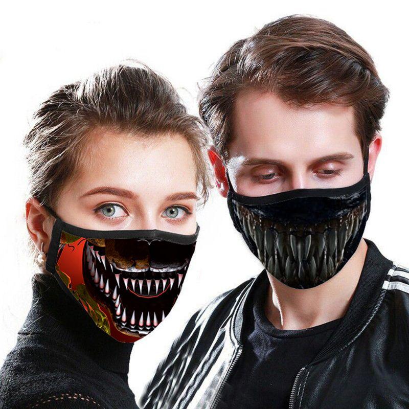 Fashion Anti-Dust Cotton Face Masks Anti-Haze Printed Unisex Washable Breathable Mouth Mask Reusable For Adult/Children