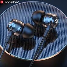 Langsdom Hifi Headphone Hybrid Earphones In ear Balance Armature with Dynamic 1BA+1DD Hifi Headset Earbud for Phone  fone de ou