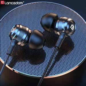 Image 1 - Langsdom Hifi Kopfhörer Hybrid Kopfhörer In ohr Balance Anker mit Dynamische 1BA + 1DD Hifi Headset Ohrhörer für Telefon fone de ou