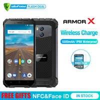 "Ulefone Rüstung X Wasserdichte IP68 Smartphone 5,5 ""HD Quad Core Android 8.1 2GB + 16GB 13MP NFC Gesicht ID 5500mAh Drahtlose Lade Telefon"