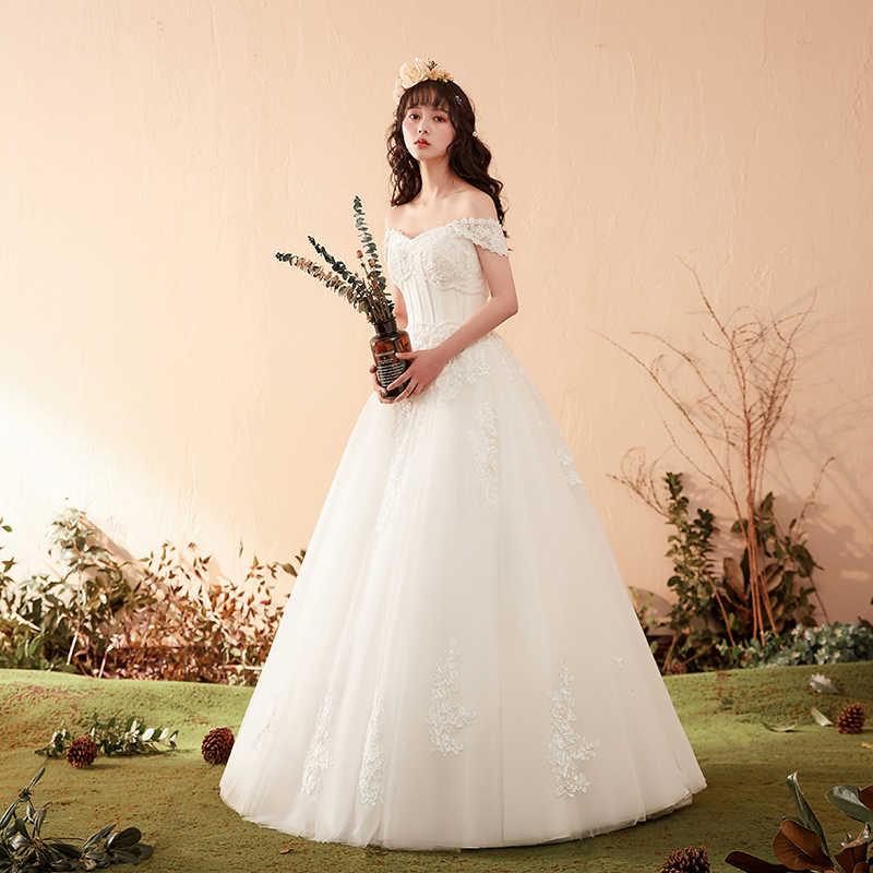 Princess Ball Gowns Wedding Dress 2020 Luxury Lace Floor Length Mariee Bride Dress Wedding Gowns Sweetheart Vestido De Noiva Wedding Dresses Aliexpress