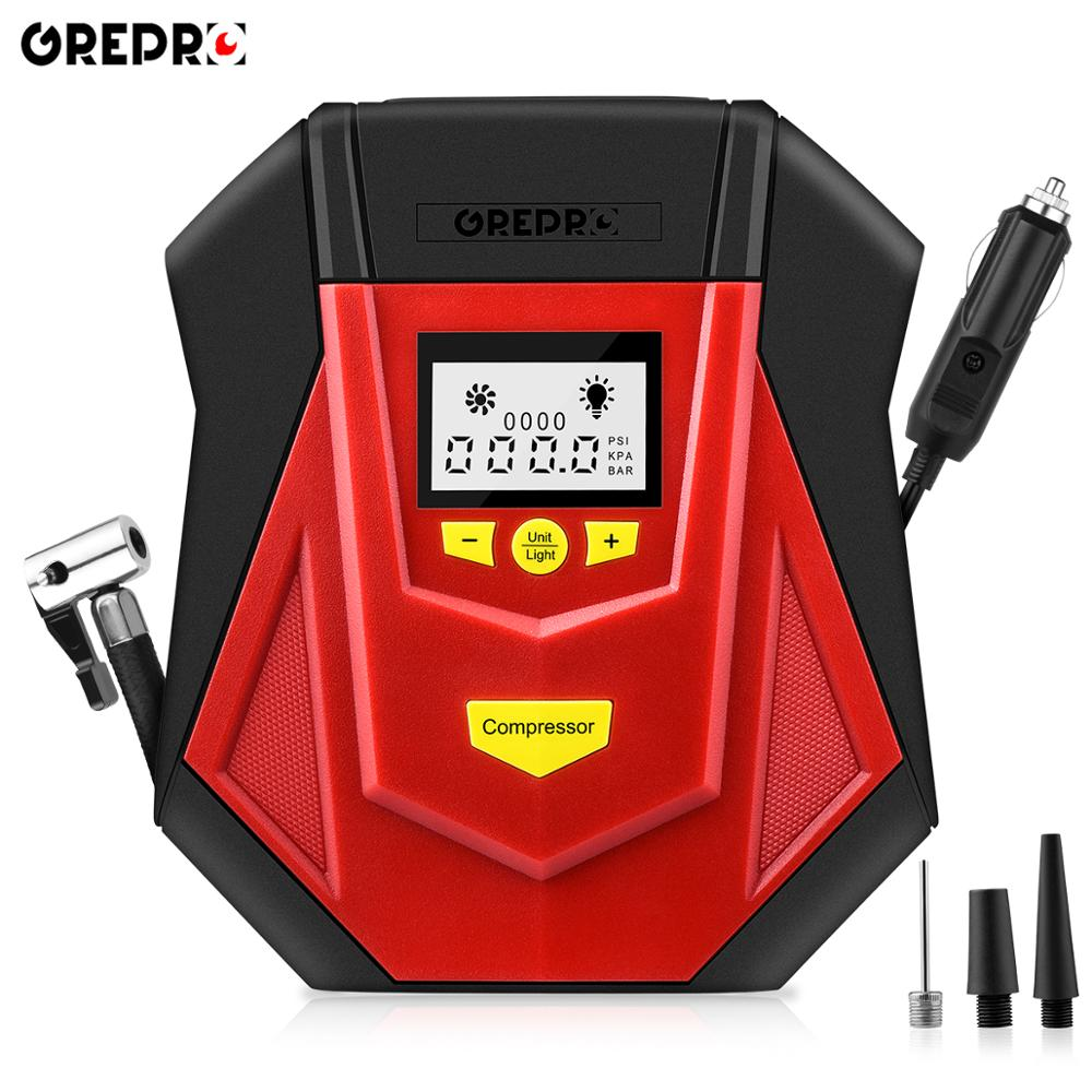 Digital Tire Inflator Portable Air Compressor With LCD Display Auto Shut Off Tire Pumps For Car Bicycle Motorcycle Tires,Balls