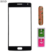 Mobile Front Glass For One Plus 1+2 Front Outer Glass LCD Outer Glass ( No Touch Screen ) Repair Parts With OCA Glue
