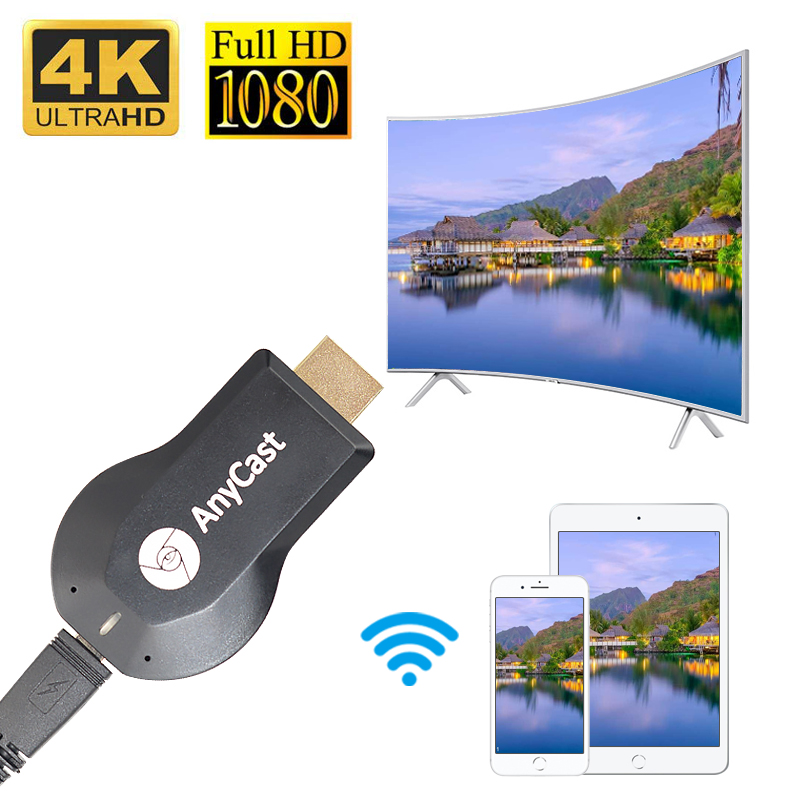1080P Wireless Anycast Plus Chromecast Mirroring Multiple TV Stick Adapter Android Chrome Cast HDMI WiFi Dongle For IOS Android