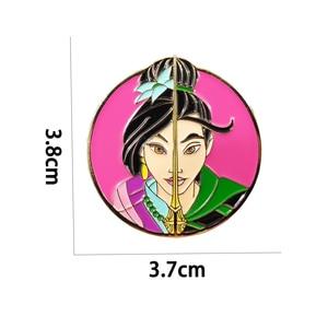 Фильм Mulan 2020 жесткая эмалированная брошь