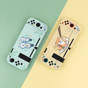 GEEKSHARE Nintend Switch Lite Case Cute Shiba Inu Shell Sea Otter Hard Cover Back Grip Shell For Nintendo Switch Accessories