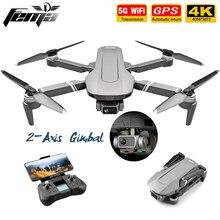 Zangão sem escova profissional do quadricóptero rc 2km do voo 25 min dron vs sg906 pro zangão de fema f4 gps com cardan de 2 eixos 5g wifi 4k câmera