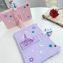 For Huawei MediaPad T5 10 8 / M5 Lite 10 8.0 / M6 8.4 10.8 Case Cute cartoon horse Kids funda for MatePad 10.4 inch strap cover